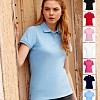 Tricouri promotionale de dama cu guler polo cu 2 nasturi - Lady Fit 63-560