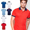 Tricouri barbatesti promotionale, din poliester colorat cu guler polo in contrast - Country 0445