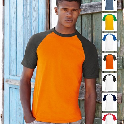 61 026 0 Tricouri barbatesti promotionale colorate Short Sleeve Baseball Fruit of the Loom