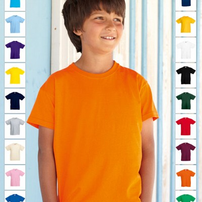 61 033 00 Tricouri promotionale pentru copii colorate Kids Valueweight T Fruit of the Loom