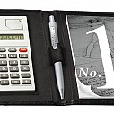 Mape promotionale cu bloc notes, calculator si suport de pix - 8266