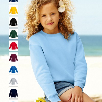 62 041 00 Bluze promotionale pentru copii colorate Kids Set In Sweat Fruit of the Loom